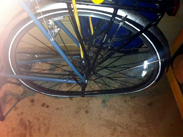 My rear wheel, post accident.