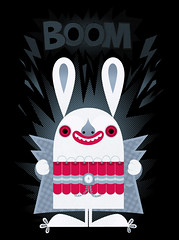 BOOM ((((sam)))) Tags: bunny illustration terrorist boom vector saam