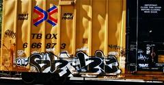 IMG_5127 (mightyquinninwky) Tags: railroad graffiti tag graf tracks railway tags tagged railcar rails boxcar graff graphiti freight trainart fr8 railart boxcarart freightart taggedboxcar paintedboxcar paintedrailcar taggedrailcar