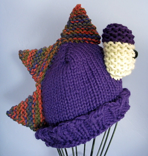 Purple dino hat