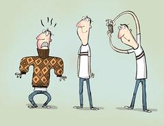 Ugly Sweater (DanMadia) Tags: camera art dan illustration digital ink sweater comic drawing cartoon humour animation 2d uglysweater cartooning madia characterdesign danmadia
