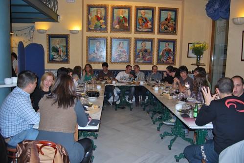 Cenando en La mar del Alabardero