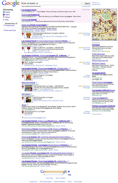 Google Place Search - new local search layout