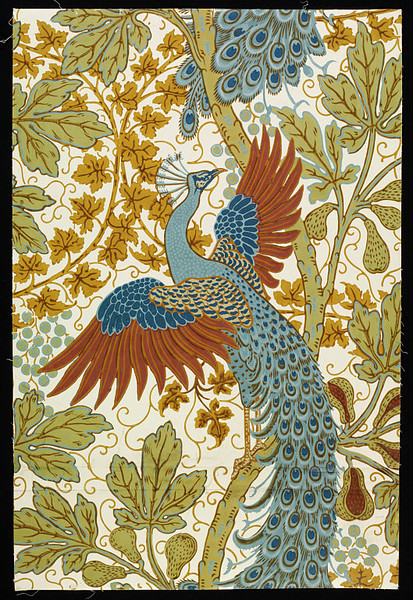 Walter Crane, Fig and Peacock, 1895