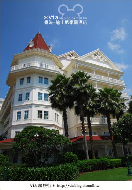 【香港住宿】跟著via玩香港(4)~迪士尼樂園酒店(外觀、房間篇)11