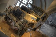 Just a Land Rover (henriksundholm.com) Tags: window car museum truck jeep sweden stockholm united tire rover exhibit un land vehicle sverige hdr nations fn armémuseet