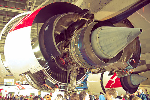 Qantas 90th Birthday A380 Engine Back Side Exhaust