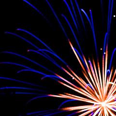 Winchester Fireworks (SamKirk9) Tags: november blue autumn red orange brown white blur yellow canon focus fireworks autumncolours bonfire winchester 2010 samkirk focusblur 400d samkirk9