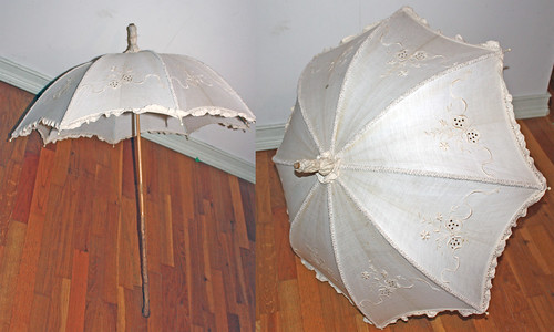 Ivory Cotton Parasol