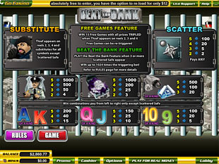 free Beat the Bank slot mini symbol