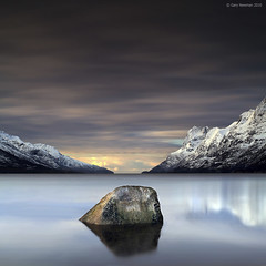Arctic Rock (Gary Newman) Tags: longexposure mountains water norway rock square arctic fjord tromso nd110 ersfjordbotn