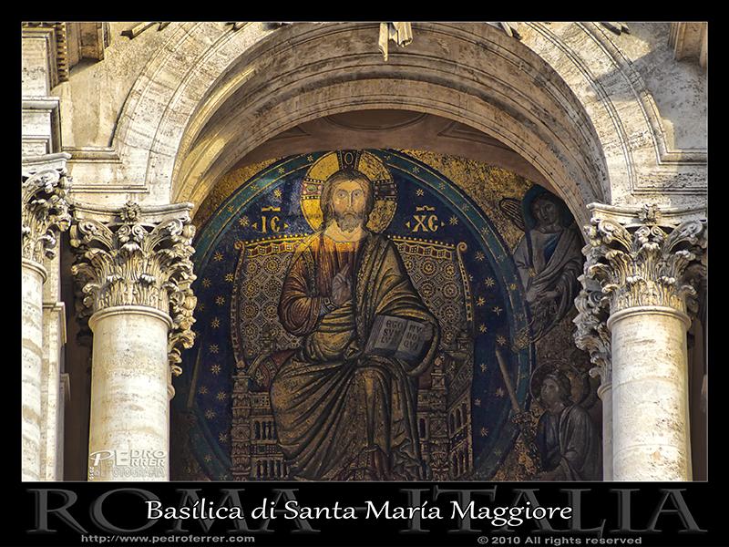 Roma - Basílica di Santa María Maggiore - Mosaico
