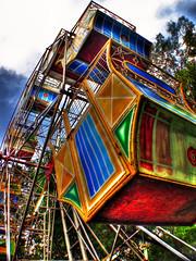 tsubibo sa marikina (Bosso Baron) Tags: carnival colors iron steel philippines vivid ferriswheel rides riverbank colorexplosion marikina karnabal tsubibo joelyonzon