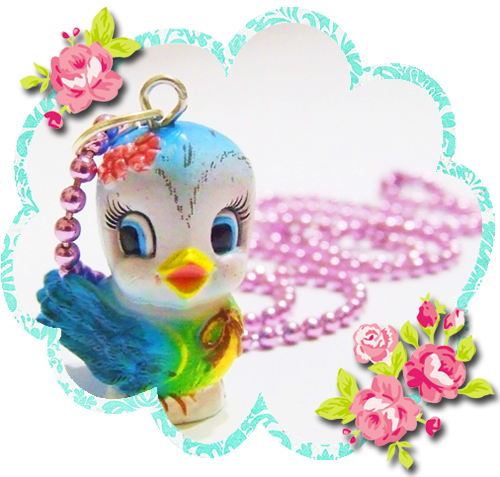 Blue bird necklace giveaway