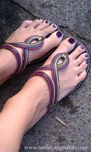 foot sandals flipflop