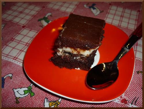 Brownie all'arancia e cioccolato