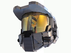 Master Chief Helmet (Benny Brickster) Tags: costume fight lego chief halo master finish covenant unsc