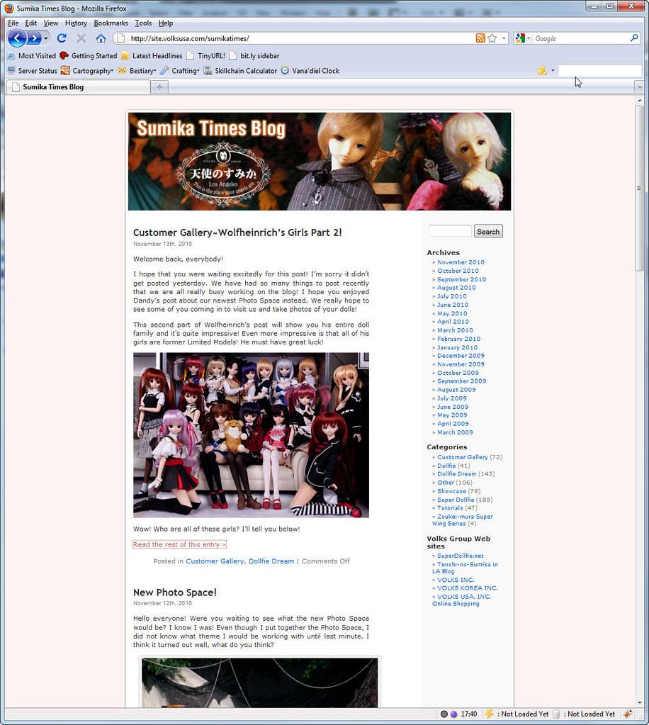 Volks USA Sumika times Blog Family Portrait 2010 version