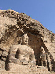 Out in the open (LeelooDallas) Tags: china autumn sculpture fall statue landscape asia buddha dana cave grottoes datong yungang iwachow