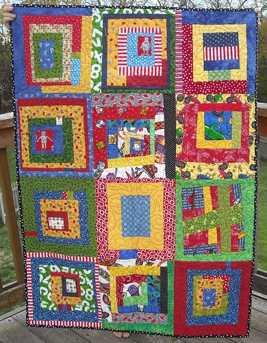 primary colors charity quilt
