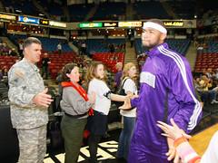 USACE Sacramento District Comander greets King...