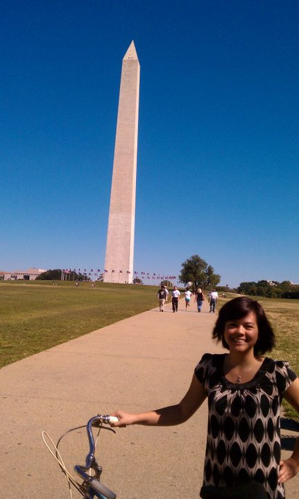beautiful liz and the washington monument