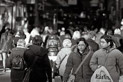 Christmas rush has begun! (Sina Farhat) Tags: winter friends light people cold photoshop canon nordstan gteborg blackwhite vinter movement raw sweden bokeh folk background details gothenburg shapes oldschool gifts rush photowalk sverige former stress manualfocus vnner 031 wideopen svartvit ljus detaljer adobecameraraw rrelse 50d kallt bakgrund skrpedjup cs5 noautofocus nikontoeosadapter christmasrush liveview gvor rusning fotopromenad manuellfokus helppen nikontilleosadapter ingenautofocus julrusning moneybeingspent spenderingavpengar nikon105mm25preai