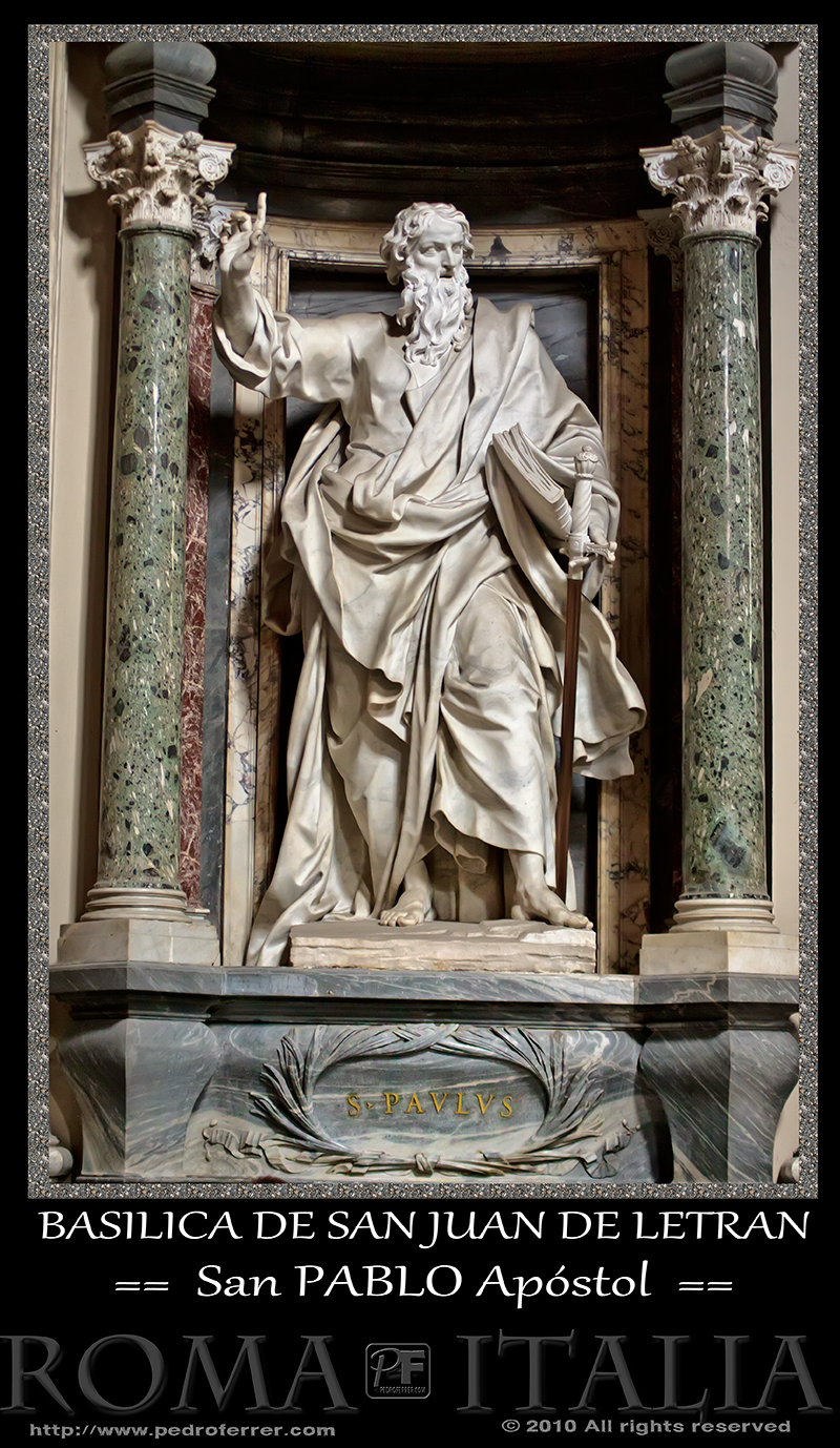 Roma - Basílica de San Juan de Letrán - San Pablo Apóstol