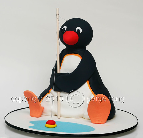 3D Pingu Cake