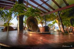 Breakfast (RohcNem) Tags: blue sea beach breakfast swimming sunrise table fishing philippines bohol plates whitesand panglaoisland alonatropical