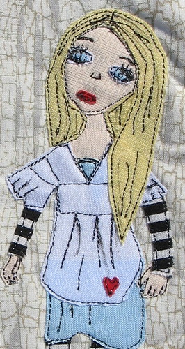 Mug Rug Swap - Alice - Detail