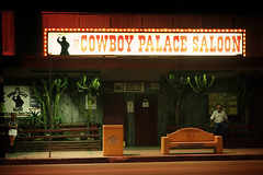 Cowboy Palace Saloon (avilon_music) Tags: california street nightphotography signs streets bar night la losangeles bars cowboy nightimages nightlights livemusic streetscene olympus signage nightscene southerncalifornia cowgirls saloon countrymusic chatsworth honkytonk countrywestern vintagesigns livemusicvenue saloons bulblights cowboypalace olympuse510 labars bulbsigns markpeacockphotography cowboybars cowboypalacesaloon