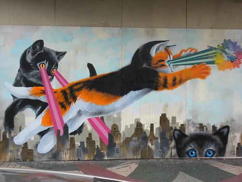 Laser Cats Mural