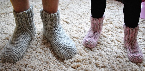 Crochet socks for Hubby& Lillia