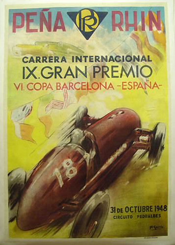 010-Peña Rhin Grand Prix, 1948-© 2010 Vintage Auto Posters. All Rights Reserved