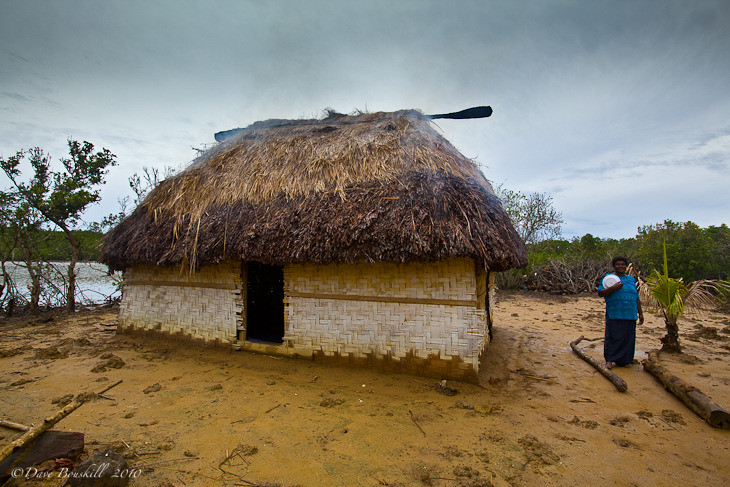 Traditional bure, house for salt factory