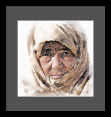 Old woman (piker77) Tags: portrait woman painterly art digital photoshop watercolor painting interesting media natural retrato aquarelle digitale manipulation simulation peinture illusion virtual watercolour transparent acuarela tablet technique wacom ritratto stylized pintura portre  imitation  aquarela aquarell emulation malerei pittura virtuale virtuel naturalmedia    piker77wc arthystorybrush