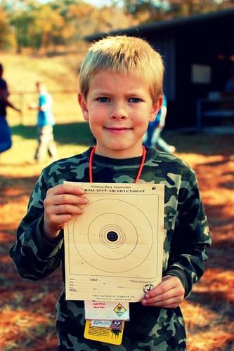 his target