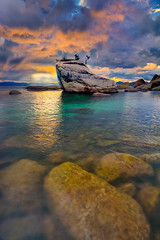 Bonsai Rock At Lake Tahoe (kevin mcneal) Tags: california weather laketahoe thunderstorm bonsairock