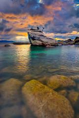 Bonsai Rock At Lake Tahoe (kevin mcneal) Tags: california weather laketahoe thunderstorm bonsairock