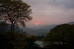 Sunset over Kashmir Mountains (ChoudhrySaab) Tags: trees pakistan sunset sky sun mountains canon landscape scenic xsi bhurban canonxsi