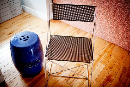 Folding chair designed by Niels Joergen Haugesen