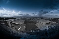 Estadio Municipal de Braga (alexknip) Tags: bw portugal blackwhite stadium stadion braga footballstadium eduardosoutodemoura voetbalstadion soccerstadium estadiomunicipaldebraga scbraga sportingclubedebraga stadionbraga stadiumbraga axastadion