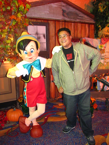 Meeting Pinocchio at A Disney Family Thanksgiving Feast