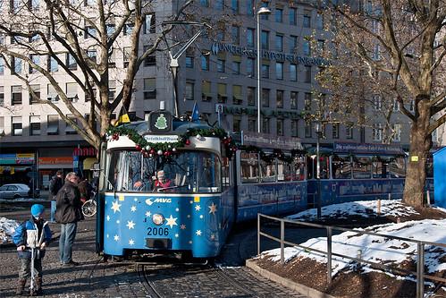 Pause am Sendlinger Tor: Berliner »Nachwuchs« am P-Wagen-Fahrerstand