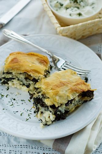 Cavolo Nero & Feta Filo Pastry Bulgarian banitza phylo savoury kale curly cheese баница точени кори кисело мляко рецепта
