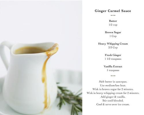 Ginger Caramel Sauce