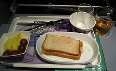 Late snack ! () Tags: vacation holiday glass plane airplane glasses la fly aircraft flight jet knife fork sandwich aerial lan snack grapes boeing rtw airplanefood aereo vacanze avion 767 applejuice roundtheworld lanchile tunamelt globetrotter oneworld boeing767 areo 767300 31a b767300er b767300 767300er 763 insidetheplane worldtraveler seat31a  lanairlines boeing767300er seatbacktray interiorcabin lan767 inthecabin lanarlinessa lneaaeropostalsantiagoarica seatbacktable