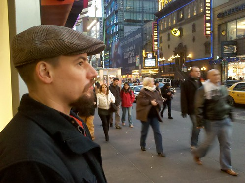 George in Times Square