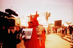 The devil went down to Arizona (anmyk) Tags: costumes arizona film halloween sign 35mm washingtondc dc washington costume xpro crossprocessed districtofcolumbia thedailyshow jonstewart fuji crossprocess rally crowd evil olympus velvia nationalmall devil fujifilm 100 immigrants xa immigration severedhead compact stephencolbert 100f seatonpark racialprofiling thecolbertreport henrypark immigrationlaw janbrewer governorjanbrewer sb1070 rallytorestoresanity keepfearalive rallytorestoresanityandorfear restoresanity anomyk